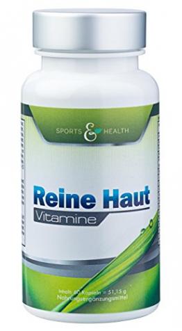 Reine Haut Vitamine - Hochdosiert - vegetarische Kapseln - 2 Monatsvorrat mit 19 Inhaltsstoffen - 1