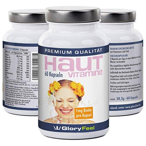 reine haut vitamine kapseln mit biotin pantothens ure zink und den vitaminen a c b1 b2 b6. Black Bedroom Furniture Sets. Home Design Ideas