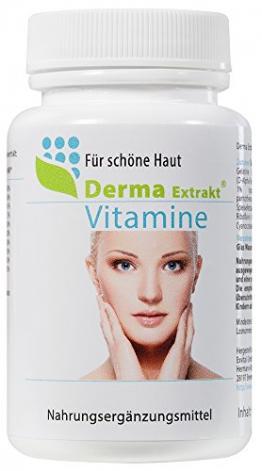 Schöne Haut Vitamine gegen Pickel - Derma Extrakt, 60 Kapseln - 1
