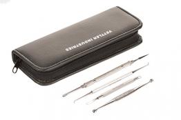Vettler Industries Medical - Mitesserentferner Entferner Werkzeug Set Komedonenquetscher aus Edelstahl Set (4er) Acne Entferner Kit - 1