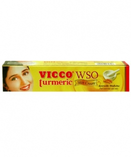 Vicco Turmeric WSO Skin Cream 30gm Boils Pimples Acne Allergic Rashes Itching - 1