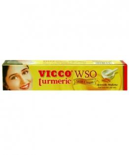 Vicco Turmeric WSO Skin Cream 30gm Boils Pimples Acne Allergic Rashes Itching - 1